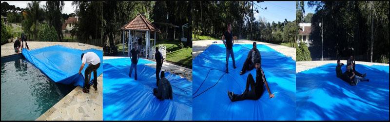 Capa para piscina lona super de cobertura e prote o suporta 300kg o loneiro tem - Piscinas desmontables 3x2 ...